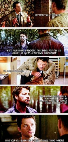 Castiel people.......Enjoy him, worship him, fall in love with him.