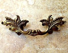 French Provincial Petite Pull in Antiqued Brass
