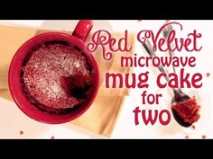 Red Velvet Microwave Mug Cake for Two--or maybe for one, if you don't want to share!