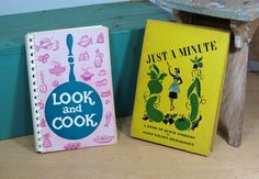 2 Vintage Cookbooks 'Look and Cook' by the National Council of Jewish Women and 'Just A Minute' by Alice Richardson . Mid Century Cooking by 13thStreetEmporium on Etsy