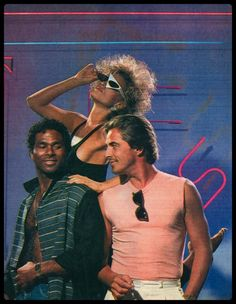 A time when clothes had a bigger personality than the people wearing them. Style Miami, Style Année 70, Miami Vice Costume, Samantha Fox 80s, Miami Vice Theme, Neon Noir, Michael Thomas, Don Johnson, 80s Aesthetic