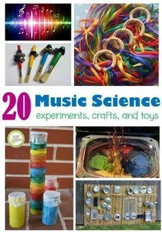 More: Music and the Science of Sound Learn more about the science of sound with these fun sound experiments and activities!Learn more about the science of sound with these fun sound experiments and activities! Science Activities For Kids, Preschool Science, Science Lessons, Teaching Science, Music Lessons, Science For Kids, Science Experiments, Sound Science, Science Fun