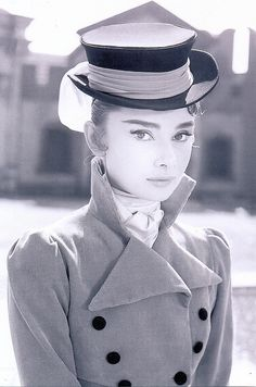 audrey hepburn in a fabulous riding top hat
