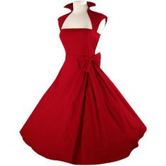 Red cocktail dress with bow