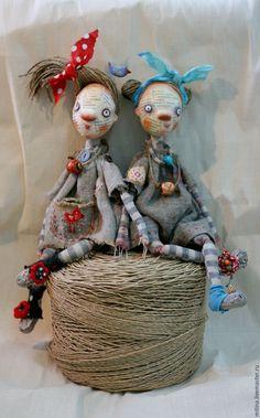 Купить Куколки - пугалки Тут и Там - авторская кукла, пугало, оберег, рустик, деревенский стиль