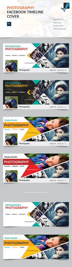 Photography Facebook Timeline Cover — Photoshop PSD #851x315 #corporate • Download ➝ https://graphicriver.net/item/photography-facebook-timeline-cover/16526857?ref=pxcr