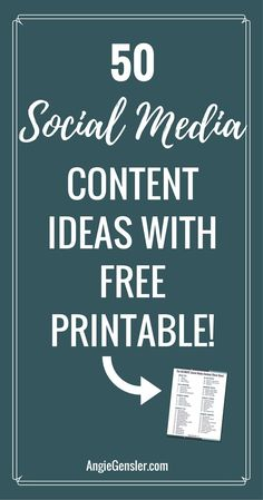 Need ideas of what to post on social media? Here are 50 social media content ideas. via @angiegensler