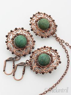 copper wirework pendant and earrings by pavla michálková (aka melantril) on flickr