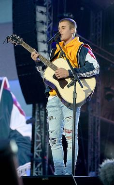 Justin Bieber from One Love Manchester Benefit Concert The Biebs sang to a crowd of fans at the One Love Manchester benefit concert.