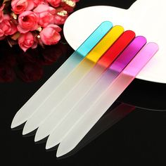 Crystal Glass Nail File Buffer Buffing Manicure UV Gel Polish Tool Durable Manicure Pedicure
