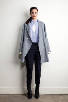 Band of Outsiders Pre-Fall 2013 #grey #coat #winter #outfit