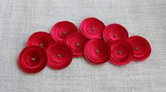 Red Poppies Embellishment by chocolatebird on Etsy