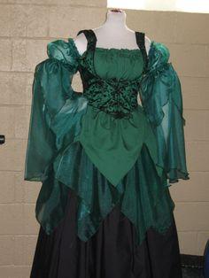 DDNJ Choose Color Renaissance Fairy Princess Pixie Fantasy Costume 4pc Cosplay Larp Anime 300 Plus Fabrics Custom Made Your Measurements  $199