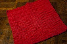 Hot Coral Pink mini blanket