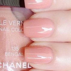 Chanel. Nail polish, number 135 Bengal, light pink.