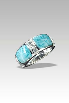 Larimarket - MarahLago Marina Collection Larimar Band Ring with White Topaz, $195.00 (http://www.larimarket.com/marahlago-marina-collection-larimar-band-ring-with-white-topaz/)