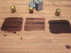 Stain options on red oak hardwood floors - going with provincial by minwax. I like provencial Red Oak Stain, Red Oak Floors, Wood Stain, Oak Floor Stains, Wood Floor Stain Colors, Walnut Hardwood Flooring, Medium Brown, Kitchen Colors, Kitchen Ideas
