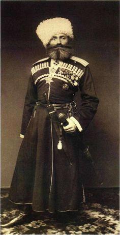 Командир Дагестанского конно-иррегулярного полка в 1879-89 гг. князь А.Г. Чавчавадзе. 1882 г.