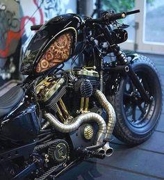 Custom Harleys, Custom Motorcycles, Custom Bikes, Concept Motorcycles, Bobber Motorcycle, Motorcycle Outfit, Bobber Bikes, Motorcycle Garage, Bobbers