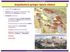 Arte Griego Camilla, Art History Lessons, Artworks, Ancient Greek Architecture, Athens, Greek, Note Cards