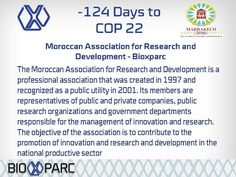 Follow our countdown to #cop22 #Marrakech #biotechnology #bioxparc #medtech #biotechnologystudent #lifescience