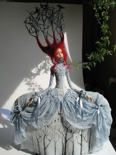 November morning - this doll by Tireless artist was the one that I found on Pinterest that took me to her Flickr pages.