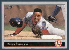 Brian Jordan RC # 337 - 1992 Leaf Baseball MLB Rookie