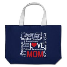 Mom is Love Mother's Day Shopping Bag  Click on photo to purchase. Check out all current coupon offers and save! http://www.zazzle.com/coupons?rf=238785193994622463&tc=pin