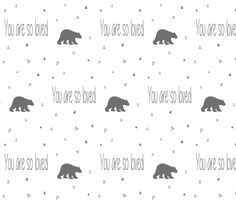 Bear You Are So Loved fabric by sproutz on Spoonflower - custom fabric