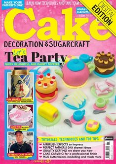 Cake Decoration and Sugarcraft magazine is the world's leading monthly cake decorating magazine that celebrates personalisation and creativity. Dedicated to bringing you exciting new ideas, as well as top trends in the colourful world of cake decorating, this is the perfect subscription for any talented baker looking to step up their game. #baking #cake #decoration #cooking #food #sugarcraft #magazine #magazinecover