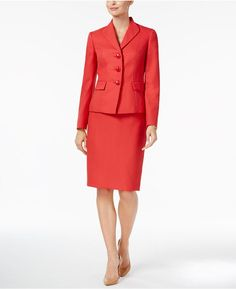 2529157991f Le Suit Three-Button Skirt Suit Women - Wear to Work - Macy s