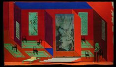 David Hockney – Stage design for Turandot, San Francisco Opera