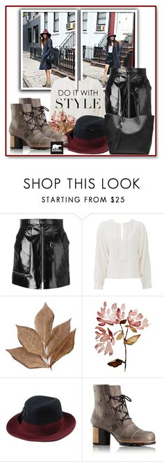 """""""Kick Up the Leaves (Stylishly) With SOREL: CONTEST ENTRY"""" by slynne-messer ❤ liked on Polyvore featuring SOREL, Isabel Marant, See by Chloé, Bliss Studio, 8, Alexander McQueen and sorelstyle"""