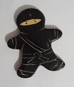 Right after my husband agreed, the first thing I said was Gingerbread Ninja! I didn't know there really was one out there. Love it! ... Just need some peppermint weapons now.
