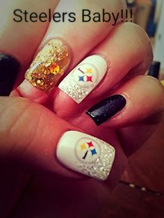 My Pittsburgh Steelers Fingernails! Love Them!