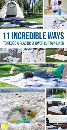 11 Incredible Ways to Reuse a Shower Curtain Liner