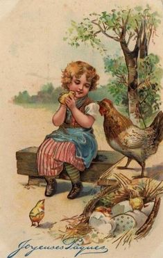 vintage français de cartes postales de pâques | Images pieuses(Jesus-Marie-Joseph) (70)
