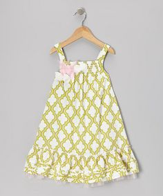Take a look at this Green Quatrefoil Mu Mu Babydoll Dress - Infant & Toddler by Trish Scully Child on #zulily today!