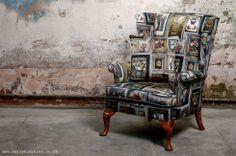 'Gallery' Printed Chair by EMILY HUMPHREY www.emilyhumphrey.co.uk