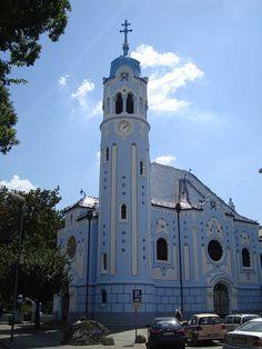 Blue church, Bratislava Bratislava, San Francisco Ferry, Explore, Architecture, Building, Photos, Blue, Pictures, Buildings