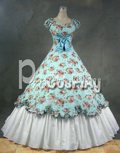 Victorian Southern Belle Ball Gown Kawaii Lolita Dress Cosplay Costume LV-033