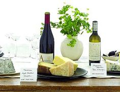 Wine and cheese tasting menus by country. Take your pick: France, Spain, or Italy!