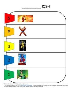 Superhero 5 Point Scale