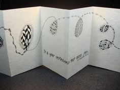Handcrafted Accordion Artist Book Restlessness by KrisWesterson, $125.00