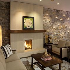 Living Room Modern Living Room Ideas With Fireplace Modern Fireplace Design Ideas Traditional Living Room Fireplace Wall, Fireplace Surrounds, Fireplace Design, Fireplace Ideas, Fireplace Modern, Simple Fireplace, Fireplace Stone, Fireplace Mantels, Candle Fireplace