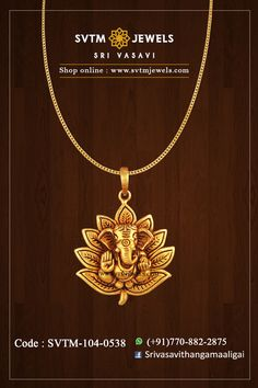 Set in the yellow gold pendant. Shipping across India and USA. Gold Pendants For Men, Ganesh Pendant, Locket Design, Gold Pendent, Gold Chain Design, Gold Mangalsutra Designs, Antique Jewellery Designs, Jewelry Ads, Gold Jewelry Simple