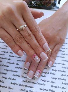 Tutorial Unhas Decoradas Românticas e Delicadas Manicure, Cute Nail Designs, Cute Nails, Hair Beauty, Nail Art, Sunshine, Roses, Ratchet Nails, Nailed It