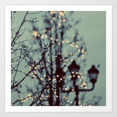 Winter Lights Art Print by Elle Moss | Society6