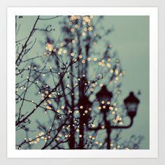 Winter Lights Art Print by Elle Moss | Society6
