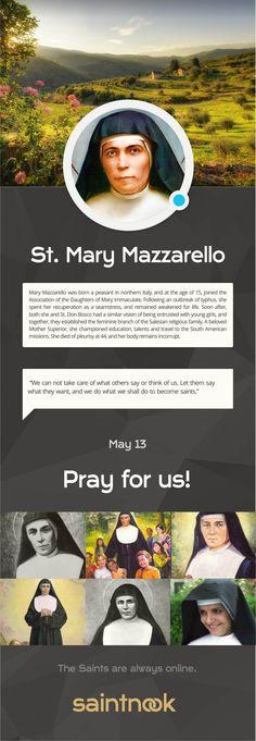 St Mary Mazzarello educated girls like Don Bosco educated boys.| www.saintnook.com/saints/marymazzarello